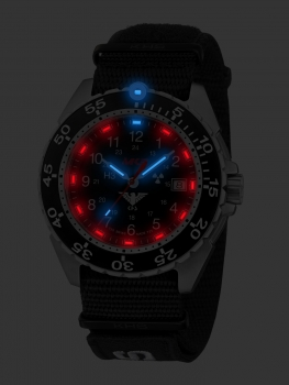 KHS Enforcer Steel with Nato Band XTAC Black, KHS.ENFS.NXT7