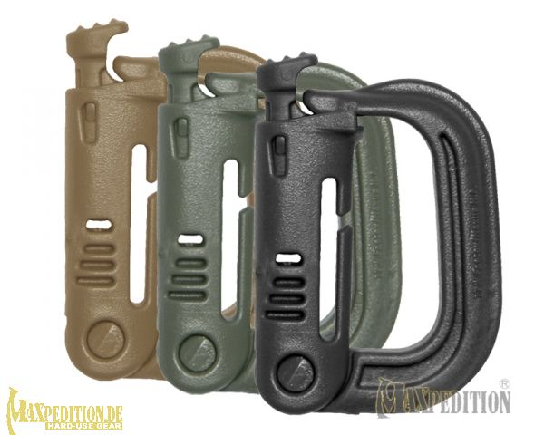 Maxpedition FOLIAGE GREEN  Grimloc Plastic Carabiner 2 Pack