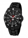 KHS Enforcer Black Steel with Stainless Steel Band PVD-Black, KHS.ENFBS.SSEB